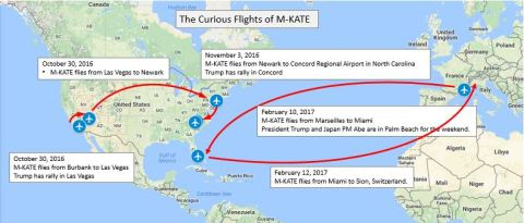 M-KATE flight overview