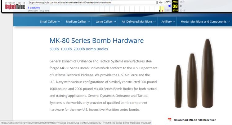GD MK80 wayback machine